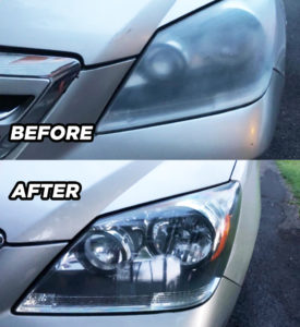 Visbella DIY Headlight Restoration Kit Before and After